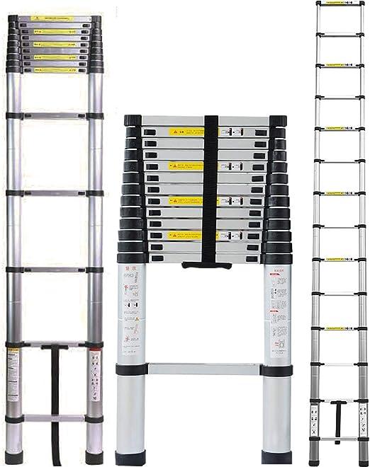 4.5M Escalera Telesc/ópica Aluminio Multiusos Port/átil Escalera Plegable para Trabajo en Interiores y Exteriores 4.5M