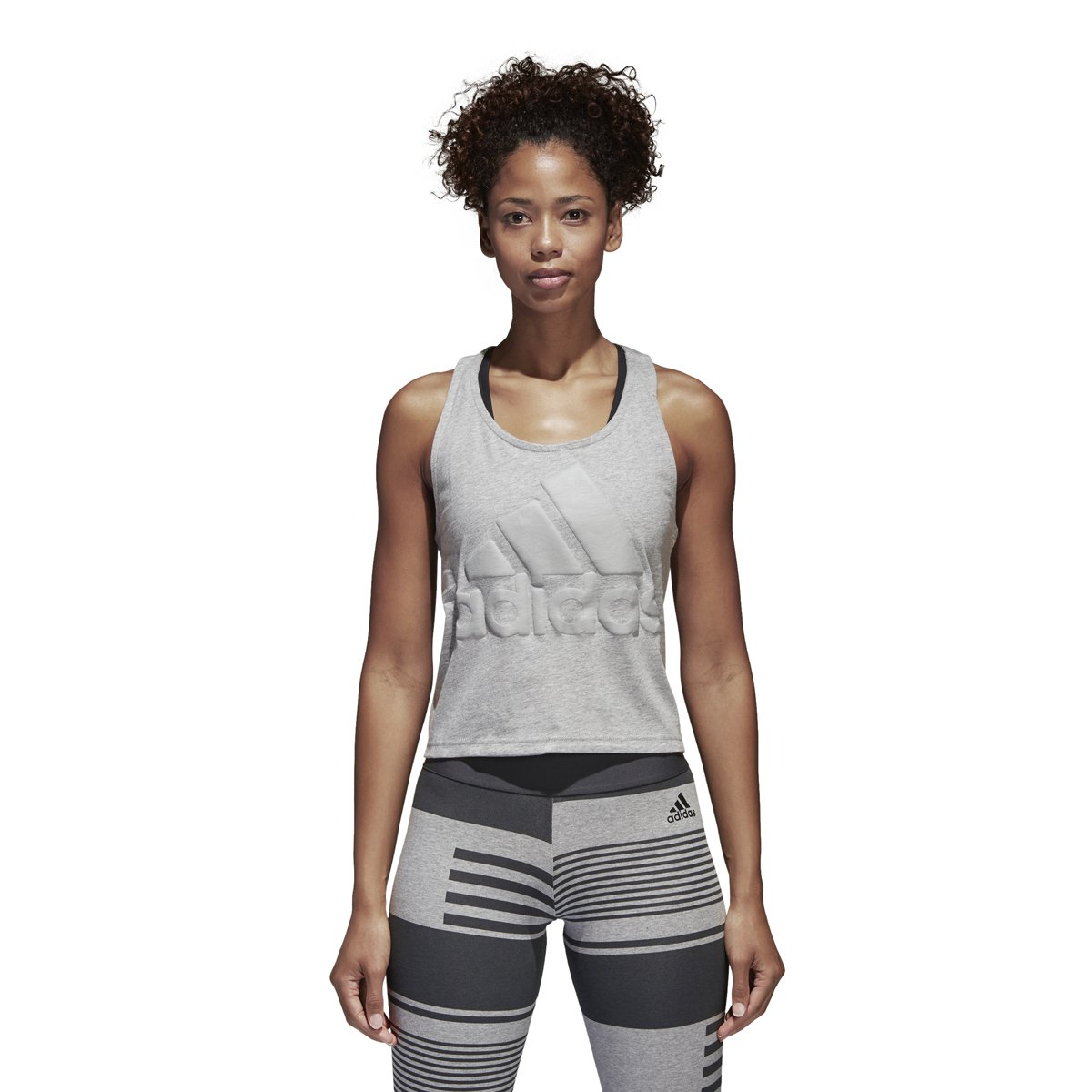 64b79a49c9cfdc Amazon.com  adidas Womens Athletics Sport ID Cropped Tank  Sports   Outdoors