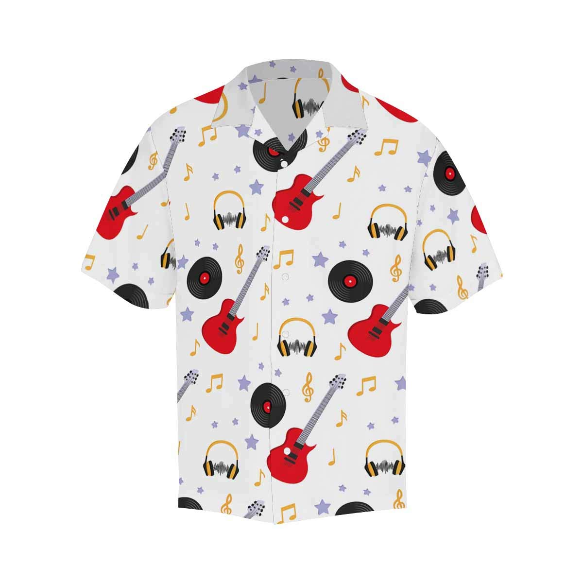 Comfortable and Breathable InterestPrint Moon Bird Feathers Flowers and Jewels Short-Sleeve Shirt