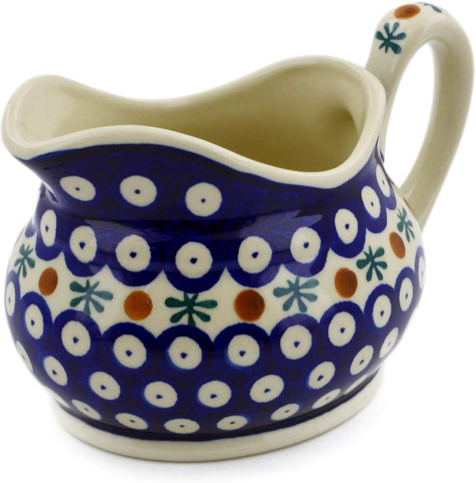 Polish Pottery 18 oz Gravy Boat Certificate of Authenticity Mosquito Theme