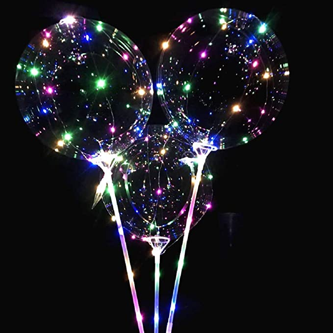 MIRRAY Boda Redonda Transparente Reutilizable del Partido de la decoración de la Burbuja del Globo Llevado Luminoso: Amazon.es: Hogar