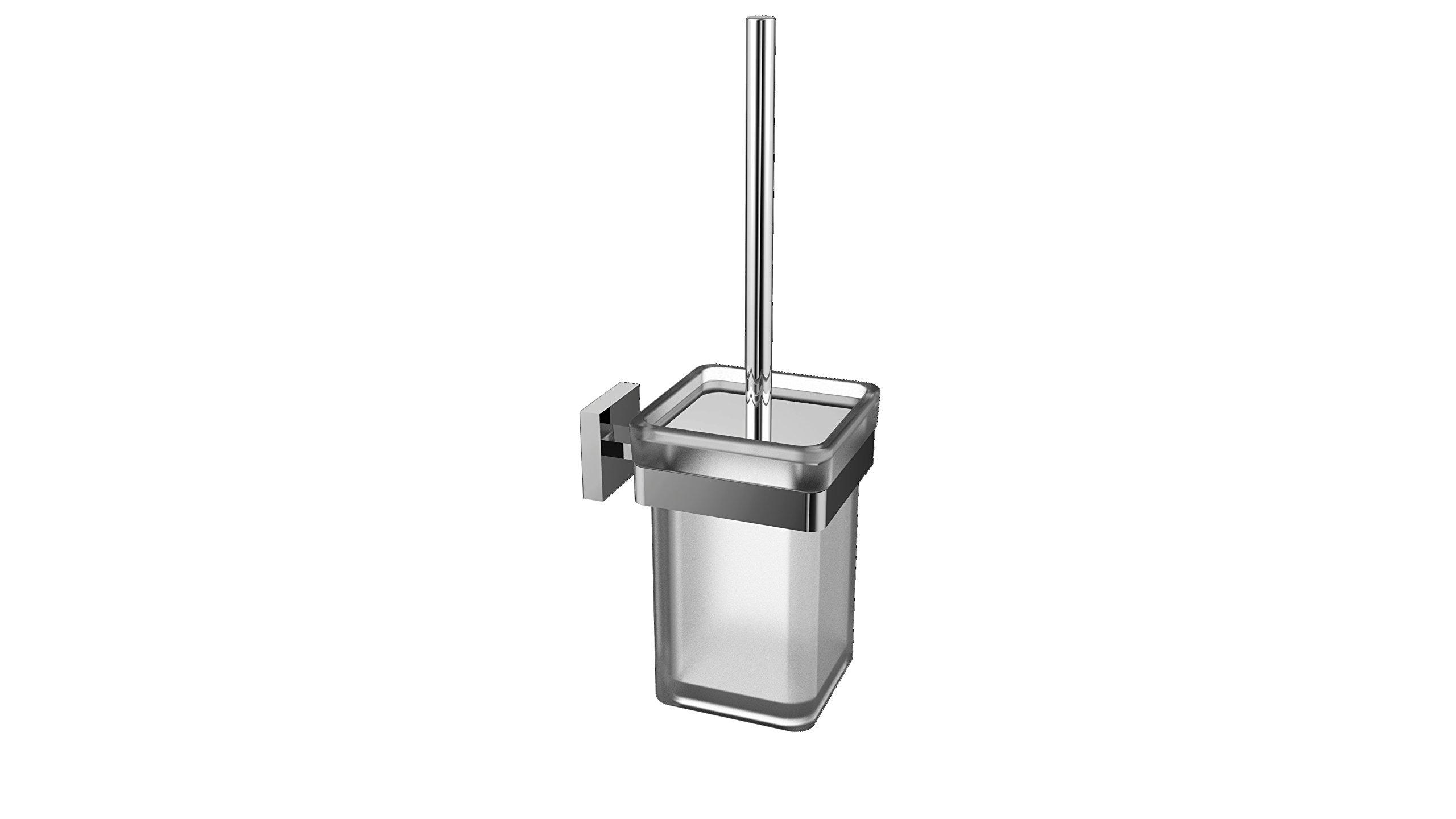 Eviva EVAC90CH Cleansi Toilet Brush Bathroom Accessories Combination, Chrome by Eviva