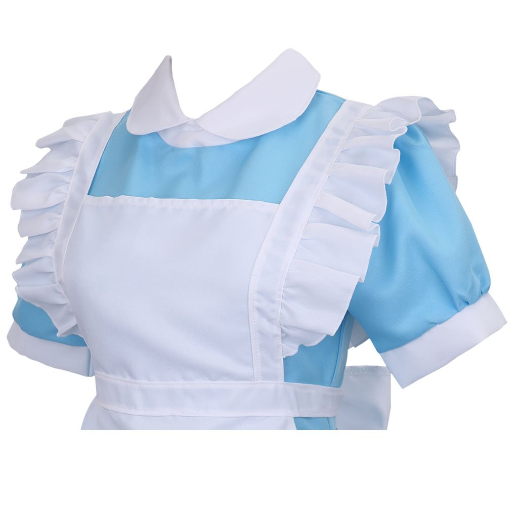 Colorful House Women's Cosplay Outfit Blue Dress Maid Fancy Dress Costume (Medium, Blue (with Petticoat)) by Colorful House (Image #5)