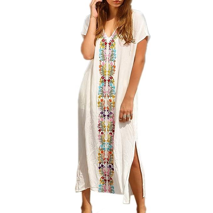 check out 995be c732a JBY signore abiti da spiaggia stile turco boho spiaggia poncho allentato  maxi kimono kaftan tunica lunghi abiti estivi camicia oversize beach dress  ...