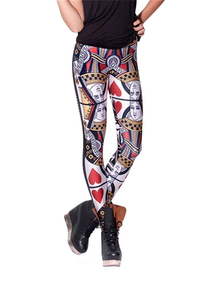 Zanuce Women's Fashion Anime Digital Print Stretch Leggings MY-D019