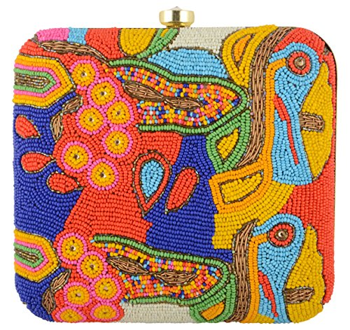 Clutch Red Parizaat Women's Shadab Khan By AZwAxBSI