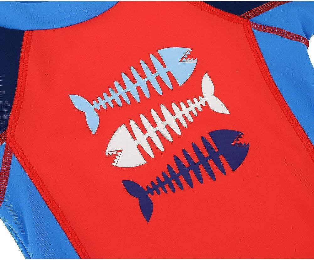 UV Protection Rashguard Shirt LACOFIA Baby Boys Girls Short Sleeve Rash Vest Toddler Swim Tops Kids Quick Dry UPF50