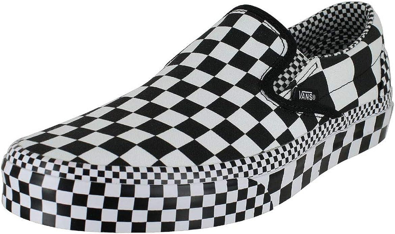 vans classic slip on checkerboard black