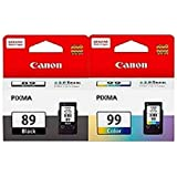 Canon Combo of PG-89 Fine And CL-99 Ink Cartridge (PG-88 Black:CL-98 Color)