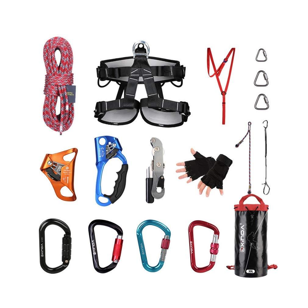 アウトドア登山ダウンヒルセット10.5mm静的ロープライズ/フォールスーツ登山ロープドロップサプライクライミング機器 (色 : A, サイズ : 80m) 80m A B07KSSYN6G