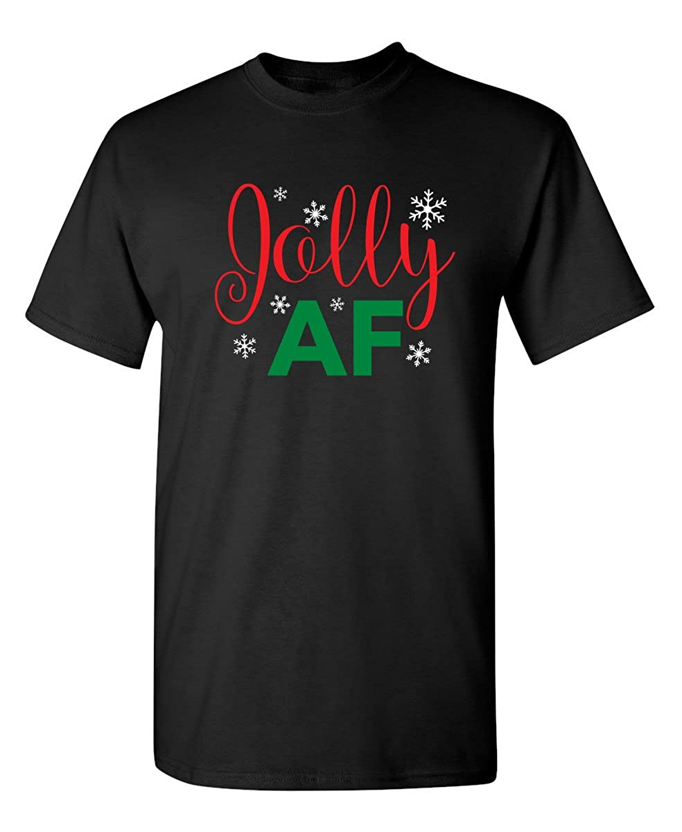 Jolly Af Christmas Graphic Sarcastic Novelty Funny T Shirt