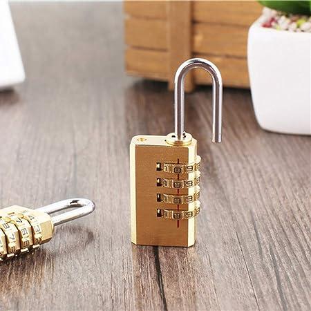 cccb31abdaef wuliLINL 4 Digit Copper Combination Lock Password Code for ...