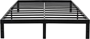 45MinST 14 Inch Reinforced Platform Bed Frame/3500lbs Heavy Duty/Easy Assembly Mattress Foundation/Steel Slat/Noise Free/No Box Spring Needed, Queen