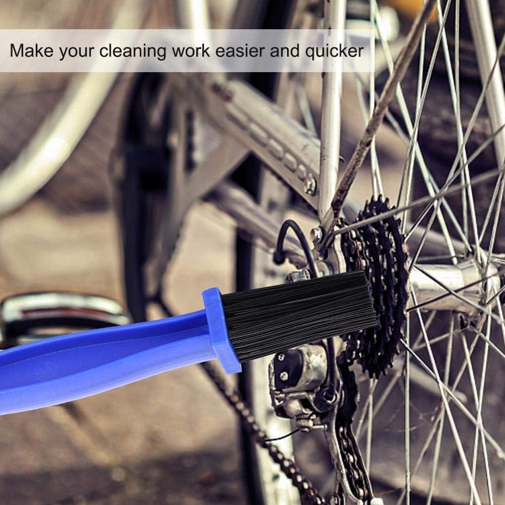 herramienta de limpieza de pi/ñ/ón de manivela Cepillos de lavado de bicicletas Kit de aparejos Accesorio para bicicleta de ciclismo de monta/ña Cepillo de cadena de bicicleta de 3 piezas