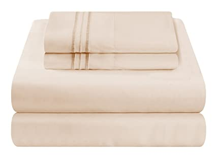 Mezzati Luxury Waterbed Sheets Set   Soft And Comfortable 1800 Prestige  Collection   Brushed Microfiber Bedding