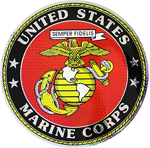 Corps Decal Marine Flag (Flagline Marines - 12 inch Marine Corps Seal)