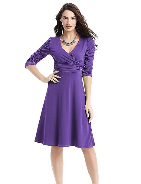 Amazon.com: ddsol Mujer Retro Vintage Swing vestido 1/2 ...