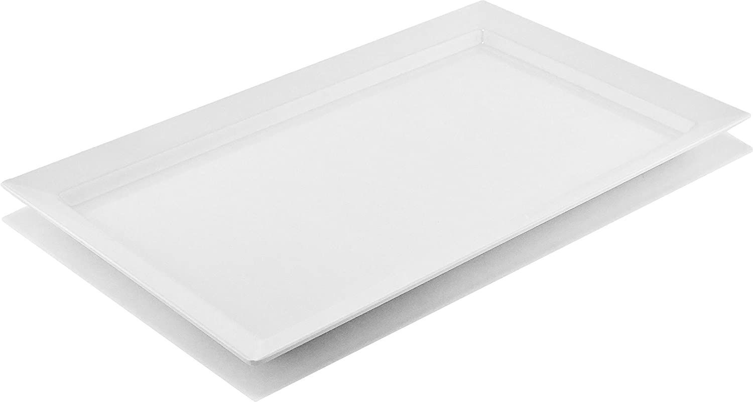 G.E.T. Enterprises White 18 Melamine Plastic, Display Tray - Bake & Brew, Break Resistant Dishwasher Safe Melamine Plastic, Bake & Brew Collection ML-116-W (Pack of 1)