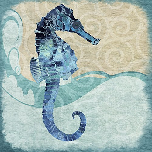 buyartforless-CAN-JM1162-24x24x15-GWrap-Canvas-Ocean-Seahorse-24X24-Giclee-Gallery-Wrap-Art-Home-Decor-by-Jill-Meyer