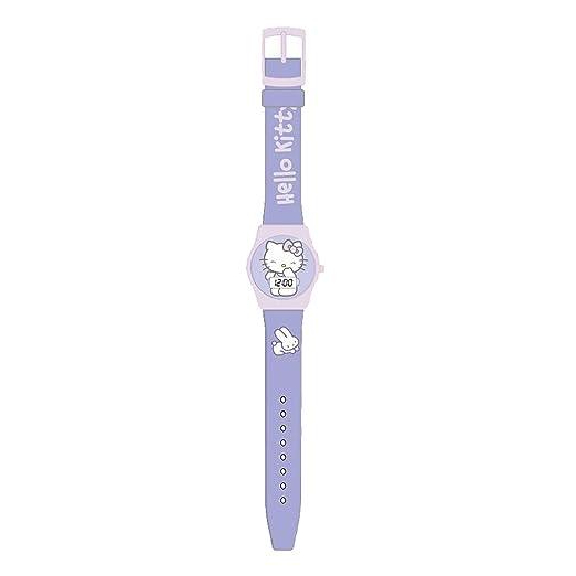 Hello Kitty HK25430 Reloj digital para niña, de cuarzo con correa de plástico lila e ilustraciones de Hello Kitty: Amazon.es: Relojes