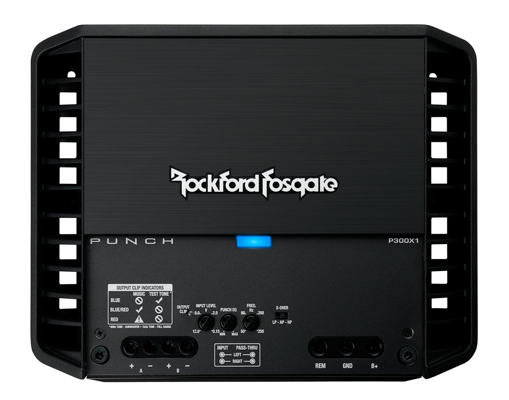 Amazon.com: Rockford Fosgate P300X1 Punch 1-Channel Mono Block Amplifier: Car Electronics