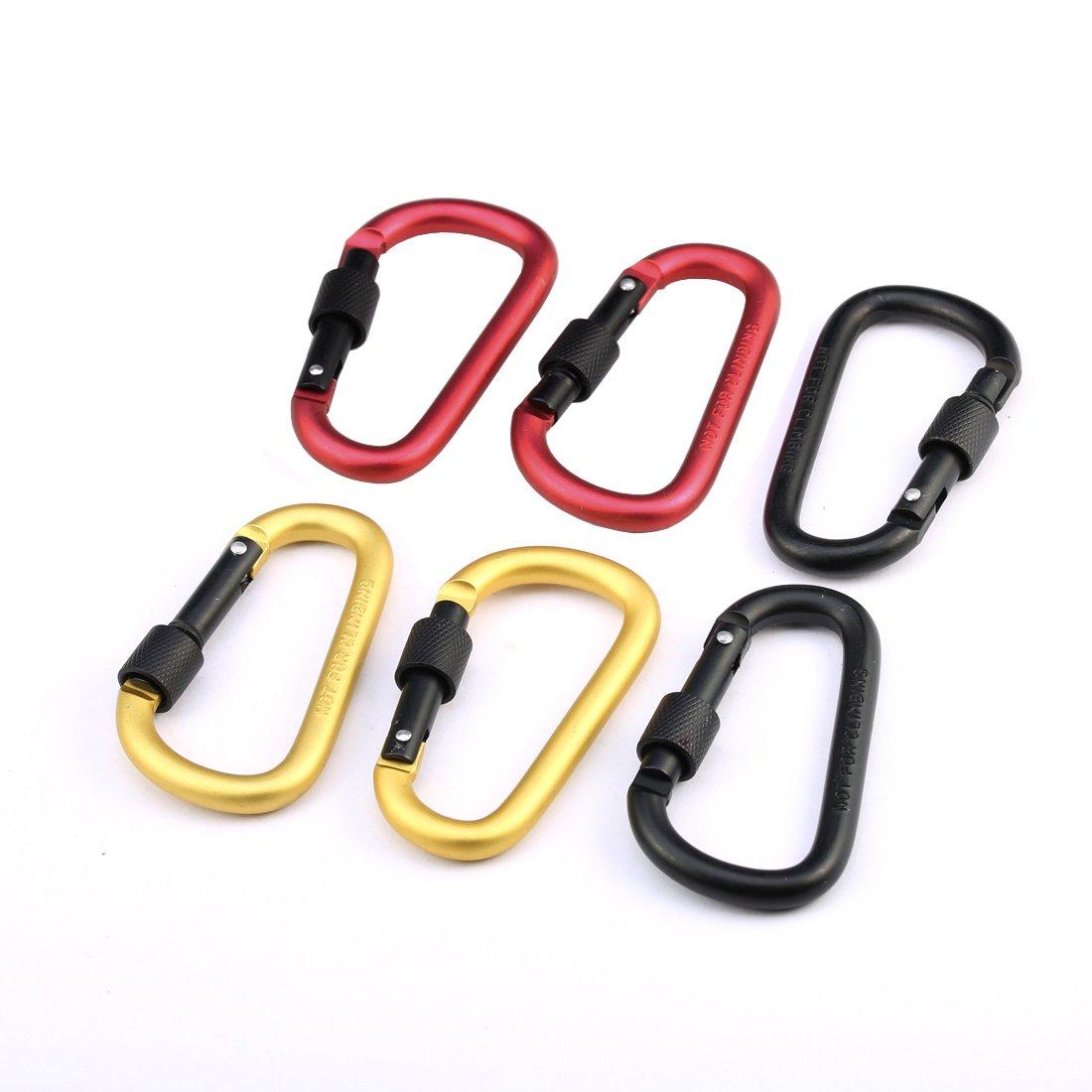 Big size Solid Titanium Key ring holder M6 snap hook clip Carabiner Ti141A
