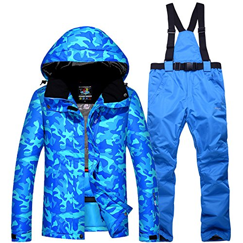 PO Couple Men Women JACKETS FYM Waterproof Warm Blue Jacket Coat Thickened DYF Suit XL Ski 7fH8nwqx