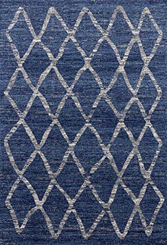 Cheap Dara 4105 Blue Modern 8 x 10 Area Rug Carpet Large New