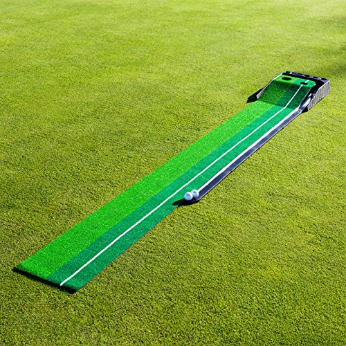 FORB Dual-Speed Golf Putting Mat (10ft x 1ft) - Perfect Your Putting On The Go With This Easy To Manoeuvre Mat [Net World Sport] by FORB (Image #1)