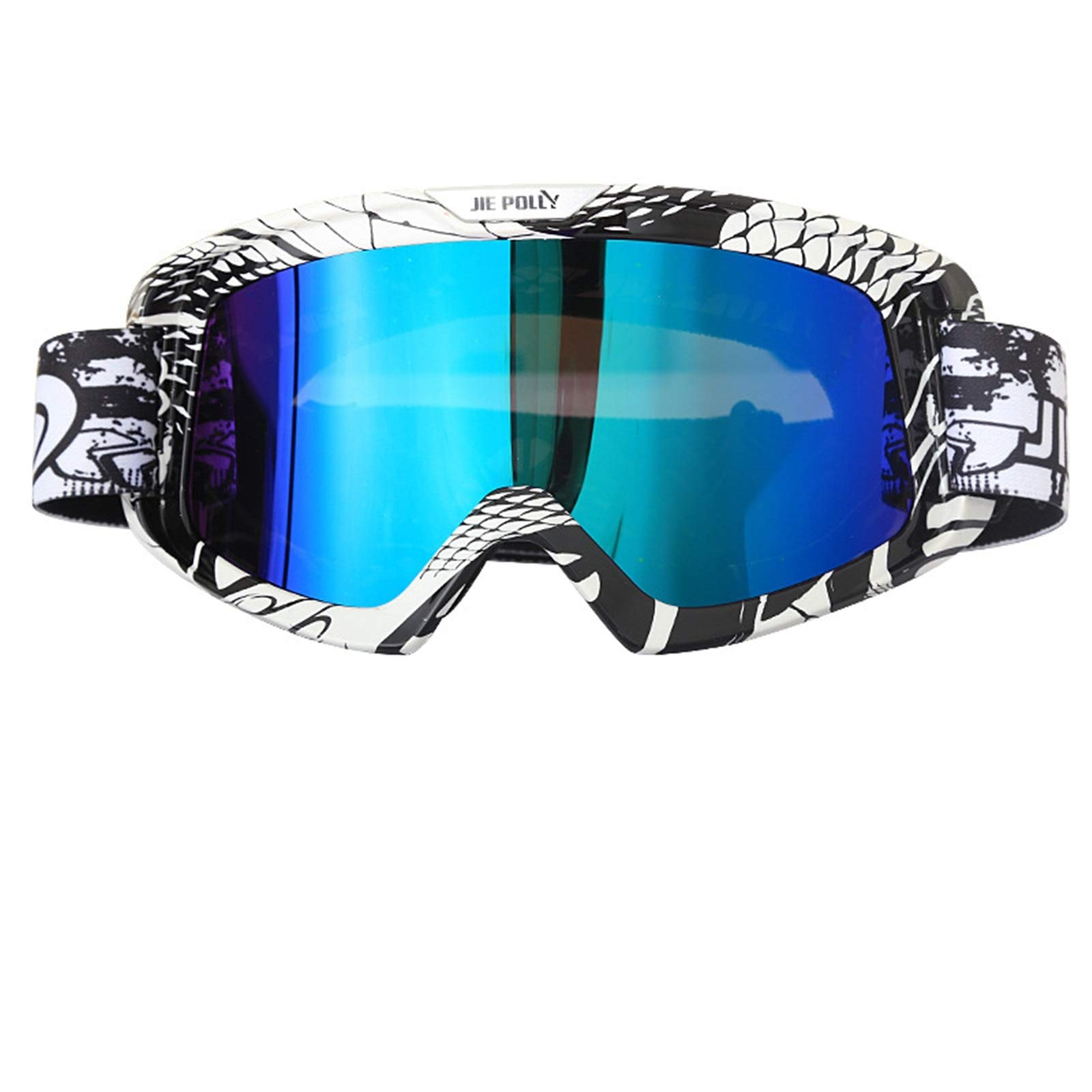 Adisaer Safety Sunglasses Motorcycle Equipment Off-Road ski Sand-Proof Goggles Colorful A04 for Adults