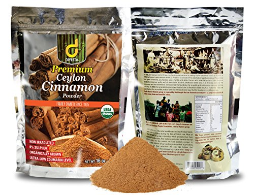 Organic Ceylon Cinnamon Powder - Family Owned Since 1935 - 1 Lb. in a Handy Re-sealable Pouch by Diyesta (Image #1)
