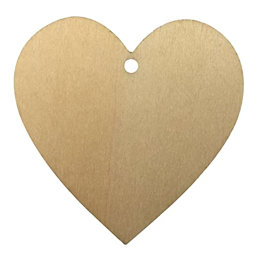 Wooden MDF Shapes Love Craft Scrapbook Kids Gift Card Making Heart