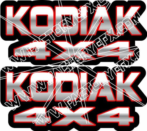 Yamaha Kodiak Gas Tank Graphics Red 400 450 4x4