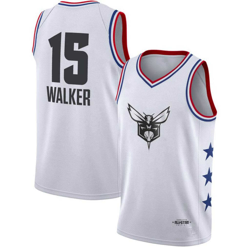 White Large Kemba Walker,Basketball Jersey,Team Giannis,ASG Edition,New Fabric Embroidered,Swag Sportswear