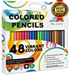 Colored Pencils Set Coloring Drawing...