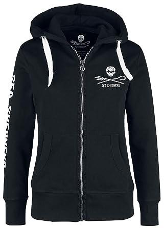 823563b3db8 Sea Shepherd Jolly Roger Sweat-Shirt zippé à Capuche Noir XXL ...