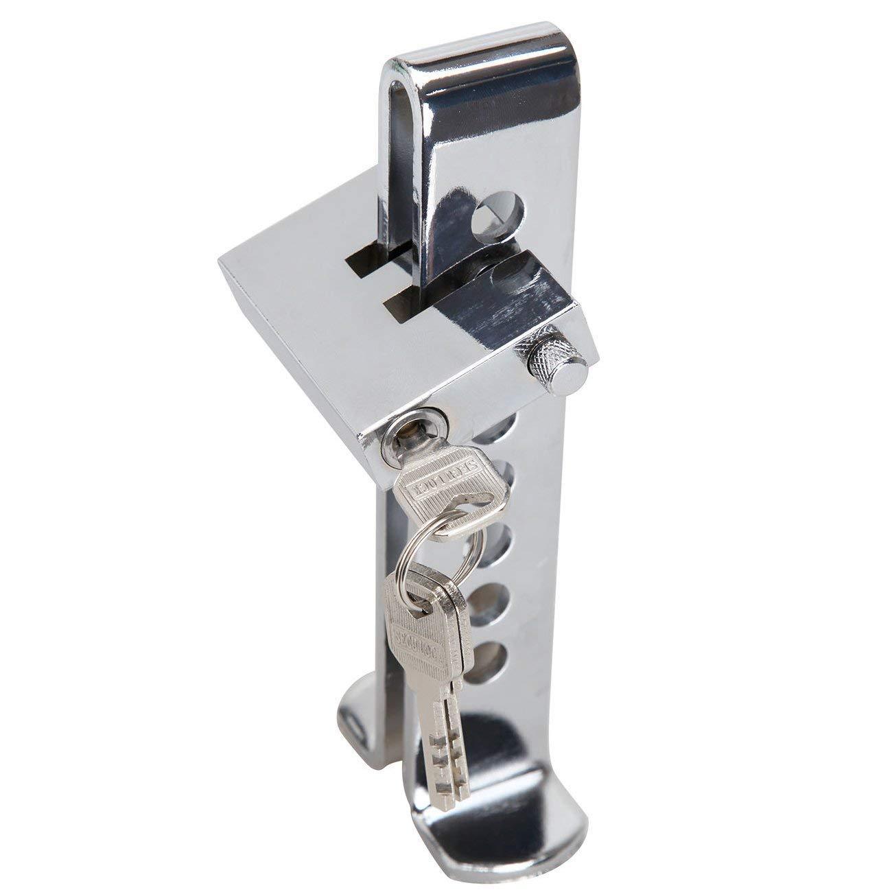 Canne Antivol Voiture Verrouillage de Volant Barre de Volant Antivol de S/écurit/é Universelle Voiture R/étractable T-Lock