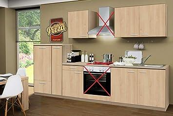 Menke Küchenzeile 300 Cm Sonoma Eiche Ohne Geräte Mit Spüle Smart