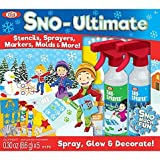 Spray, Glow and Decorate Snow Creative Outdoor Play With 21-Piece Sno-Ultimate Kit By Idea, Includes Color Sprayers, Markers and Stencils -Perfect Gift For Kids