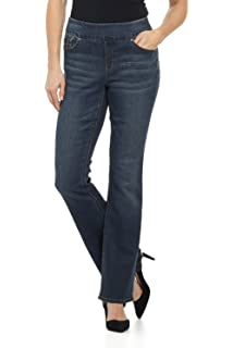 19f2a2c0c96 Rekucci Jeans Women s Ease in to Comfort Fit Pull-On Stretch Bootcut Denim  Pants