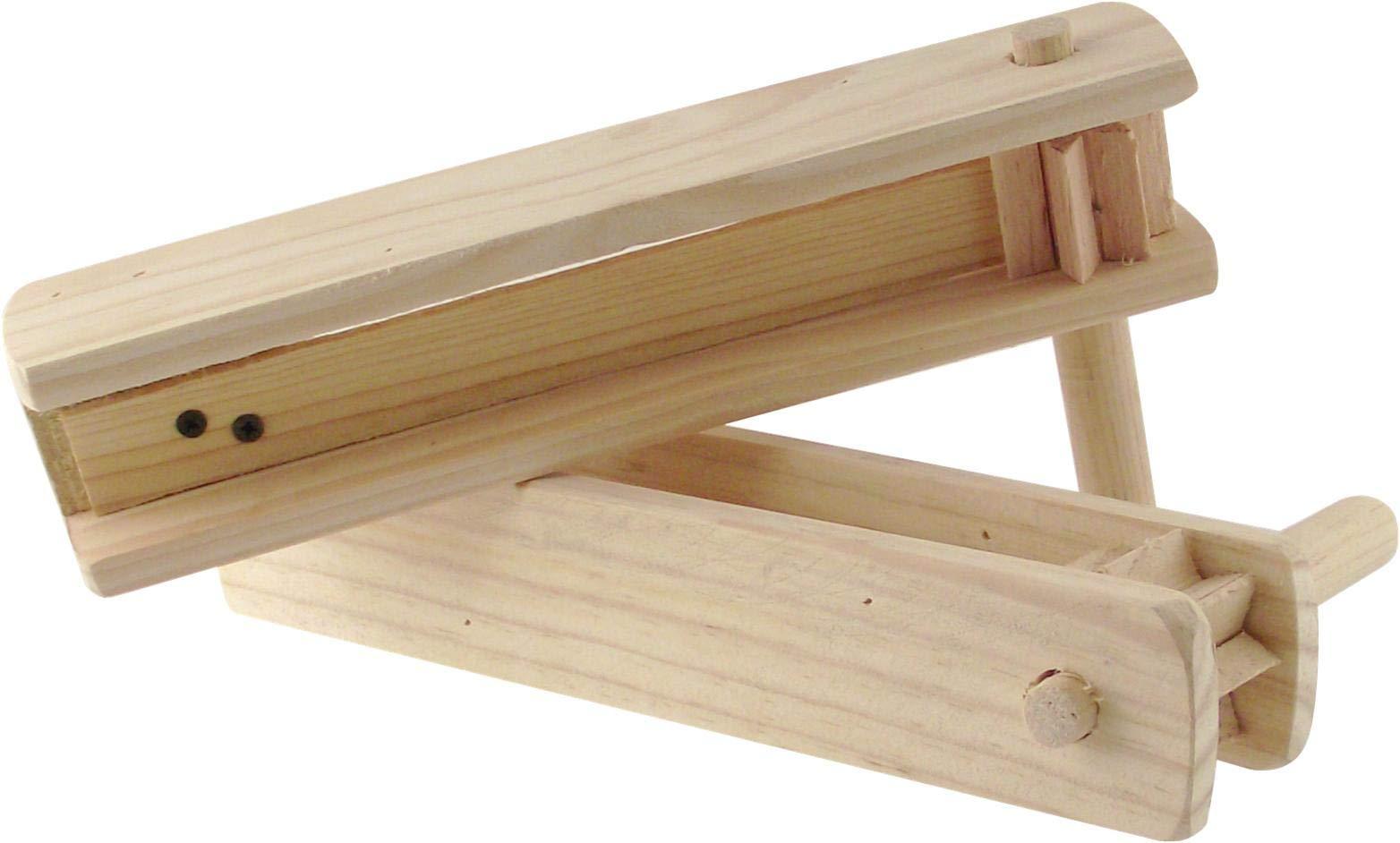2 Large Wooden Matraca Noisemaker - Two 11'' Ratchet