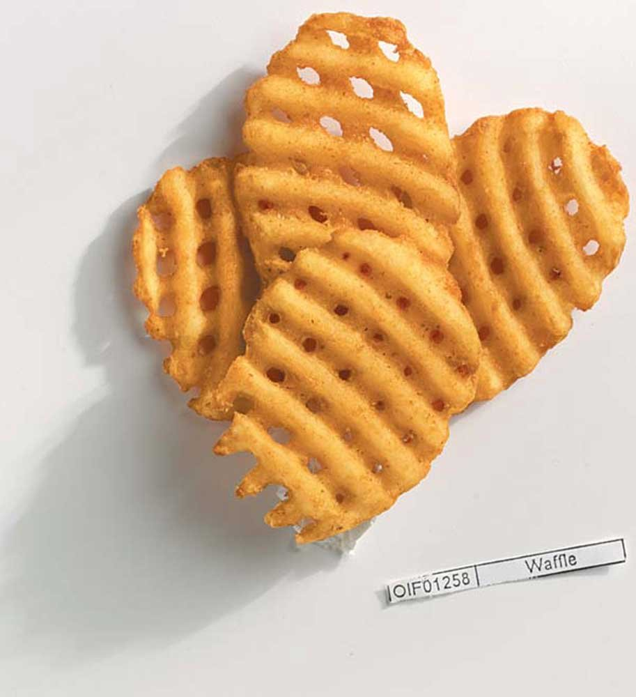 McCain Ore Ida Cross Trax Waffle Potato Fry, 4.5 Pound - 6 per case.