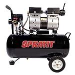 Sprayit Dental SP94002 Compresor Silencioso de 1 HP, Tanque de 24 l, 120 V