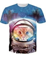 Uideazone Unisex 3D Creative Print T-Shirt Casual Graphic Tee