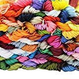 ATDAWN Rainbow Color Embroidery Thread,Cross Stitch