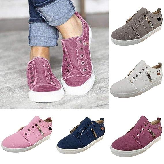 Amazon.com: Zapatillas de tenis para mujer con deslizamiento ...