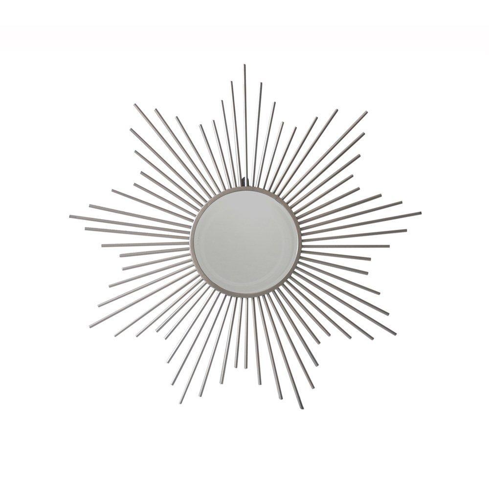 Cheungs FP-4318 Metal Sunburst Silver Mirror, Silver