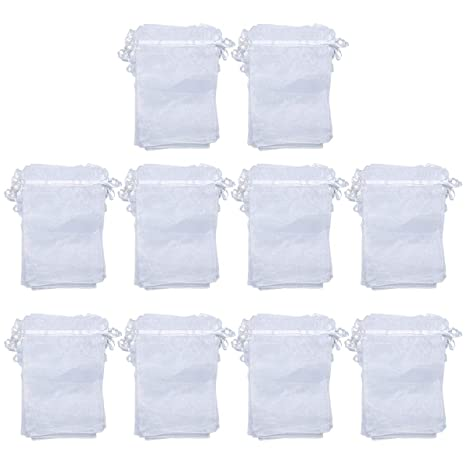 misscrafts Organza bolsas de regalo con cordón (para regalos ...