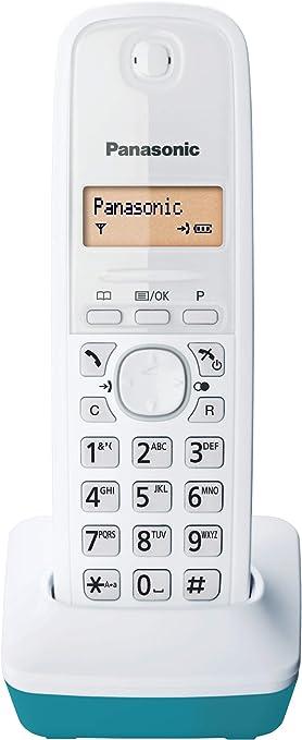 Panasonic KX-TG1611 - Teléfono fijo inalámbrico (LCD, identificador de llamadas, agenda de 50 números, tecla de navegación, alarma, reloj), color azul: Panasonic: Amazon.es: Electrónica
