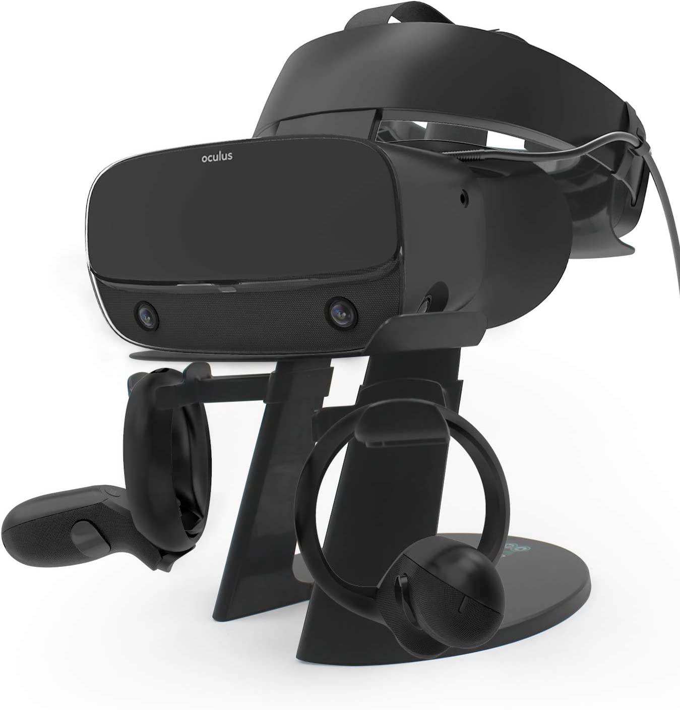 AFAITH VR Stand, VR Headset Display Stand with Game Controller Holder for Oculus Rift S/Oculus Quest/Rift Headset and Other VR Headset